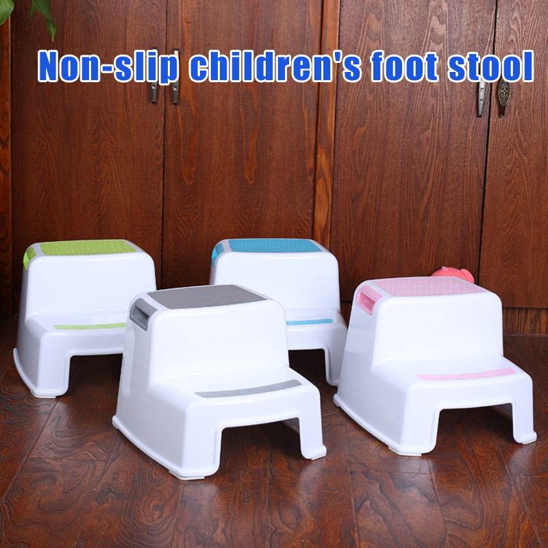Non-Slip Bathroom 2 Step Stool with Soft Grip for Baby Kids Boys Girls Toilet Potty Training Toddler Stools