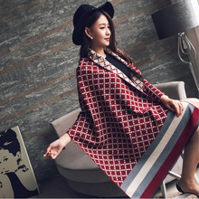 New Design shawl Winter women cashmere scarf for ladies thicker High quality plaid printied poncho oversize long