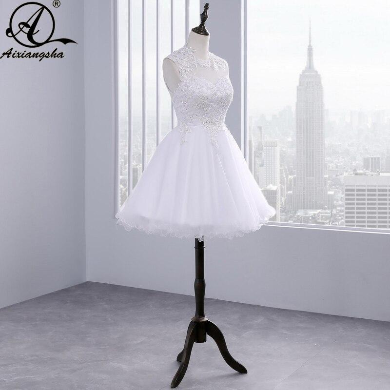 8009f6864 2018 nueva dulce 15 años de pura blanco corto vestidos de fiesta Sexy sin  espalda vestido de apliques 8th graduación vestido hecho a medida en  Vestidos de ...
