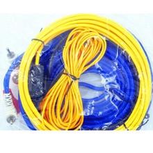 60 Вт и формирующая листы для кровли 4 м длина Профессиональный Динамик Установка провода Комплект кабелей провода, автомобильная аудиосистема проводов разъем Усилитель-сабвуфер