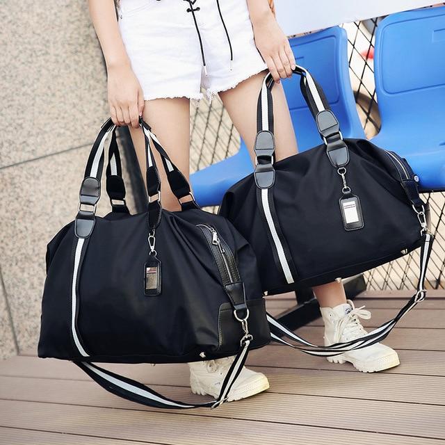 31e415fb467e 2017 New Women Men Travel Bags Fashion Striped Men Luggage Travel Duffle  Bags Small Travelling Bag