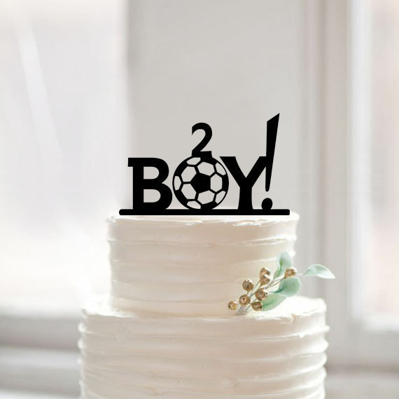 Happy Birthday Cake Topperbaby Boy Football Cake Topper
