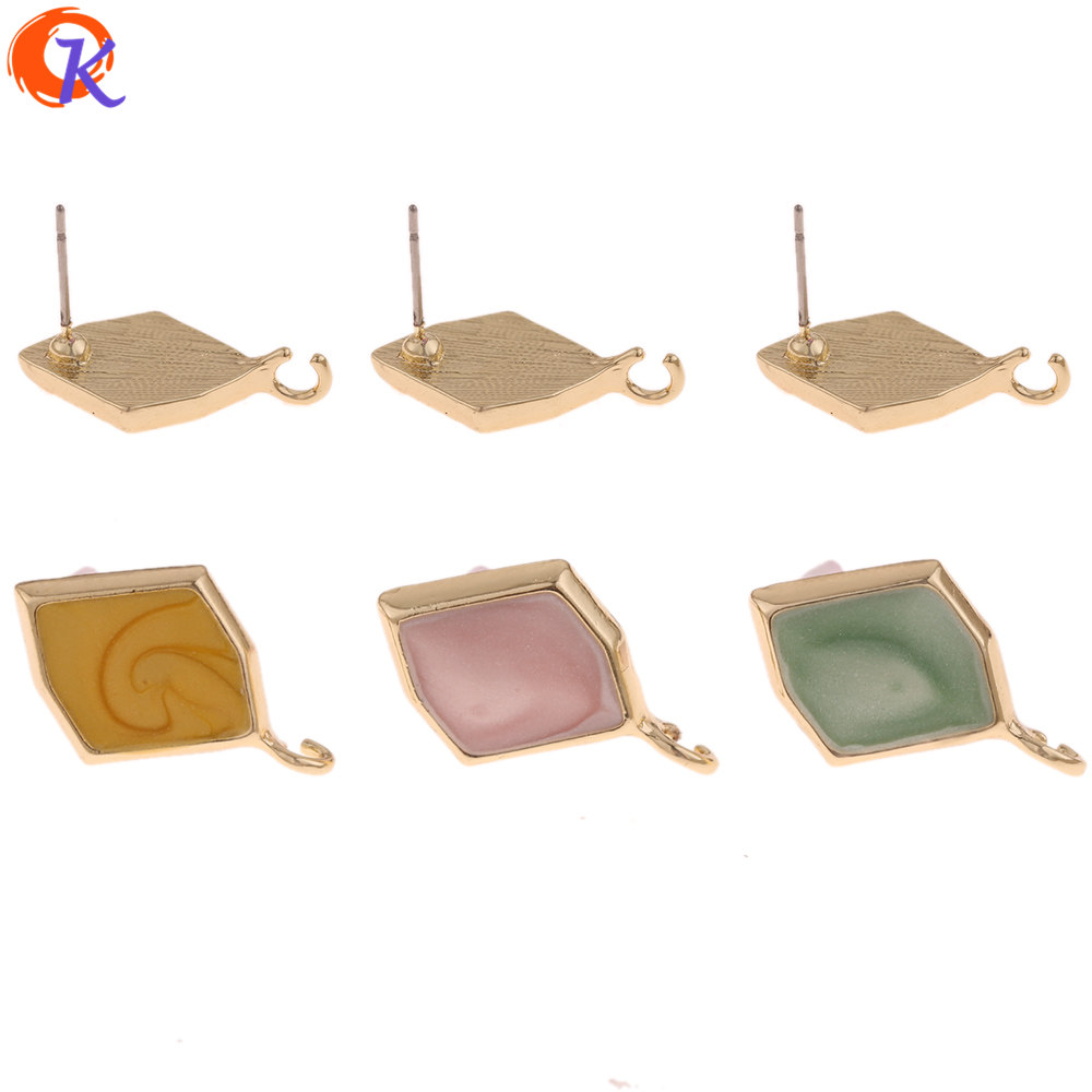 Cordial Design 50Pcs 14*22MM Jewelry Accessories/Earrings Stud/Irregular Shape/DIY Making/Hand Made/Jewelry Findings Components
