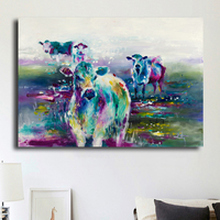 Unframed Hot Sale Wall Art Painting Abstract Colorful Deer by Katy Perry Canvas Printing Animal Painting Room Decoration