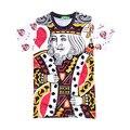 2017 Rei de Copas hiphop casuais concerto camisa O-pescoço camisola impressão 3d mulheres/mens pullover verão T-shirts T-shirt dos desenhos animados