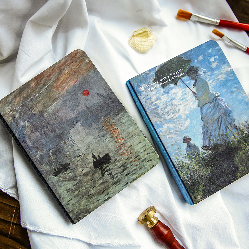 Vintage Hardcover Notebook Van Gogh Oil Painting Cover Diary Pad Creative Office Decoration Stationery Bullet Journal Supplies
