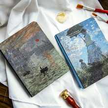 Vintage Hardcover Notebook Van Gogh Oil Painting Cover Diary Pad Creative Office Decoration Stationery Bullet Journal Supplies climemo notebook hobo hand book van gogh cover apricot flower painting stationery diary notepad bullet journal agenda a5 a6