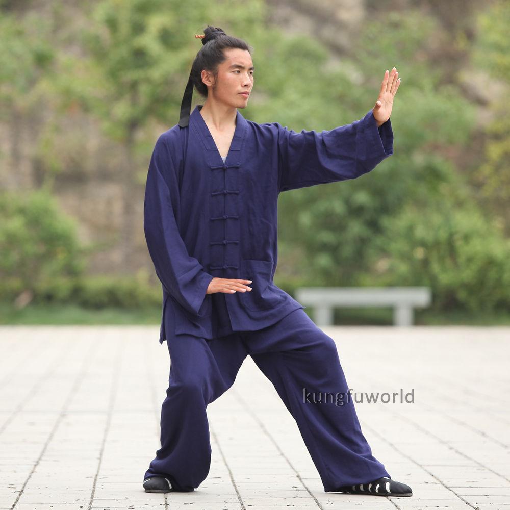 24 colores Lino Wudang Taoist Artes marciales Kung fu Traje Tai chi - Ropa deportiva y accesorios - foto 2