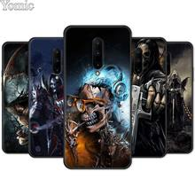 Black Case for Oneplus 7 7 Pro 6 6T 5T Silicone Cover for Oneplus 7 7Pro Soft Phone Case Shell Grim Reaper Skull Skeleton