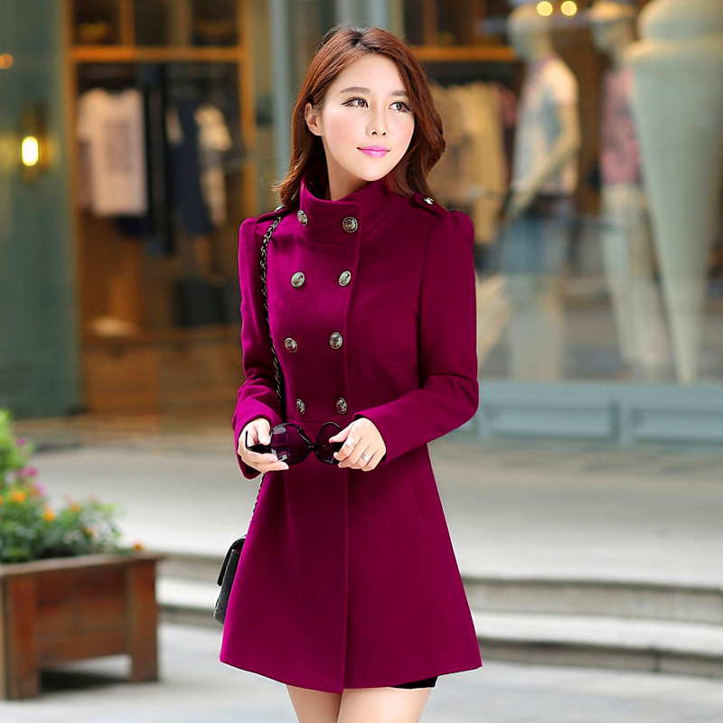 2019 Spring Hot Sale Fashion Solid Full Sleeve Casual Slim Coat Button Mandarin Collar Female Clothing Office Lady   Trench