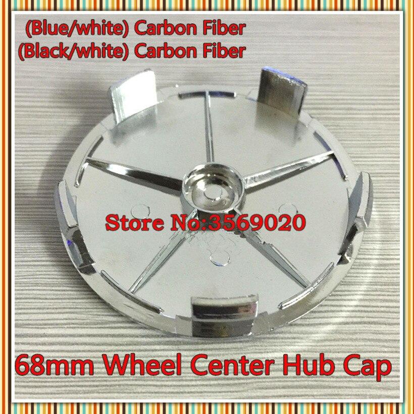 Bmw Z4 Emblem Replacement: 4pcs 68mm Blue/White Black/white Carbon Fiber Wheel Centre