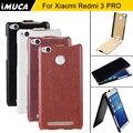 Voltear la cubierta de cuero para xiaomi redmi 3 s caso para xiaomi redmi 3 pro cubierta de lujo cajas del teléfono hongmi 3 pro contraportada shell