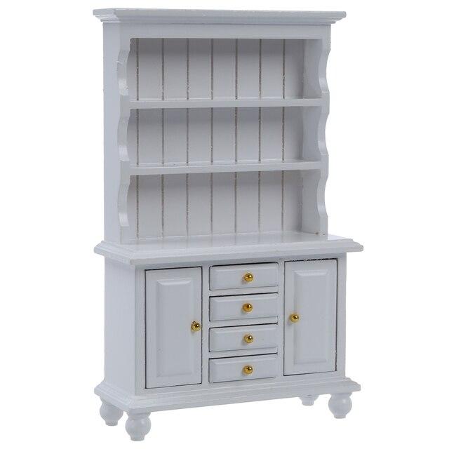 112 poppenhuis miniatuur meubels multifunctionele hout kast boekenkast wit
