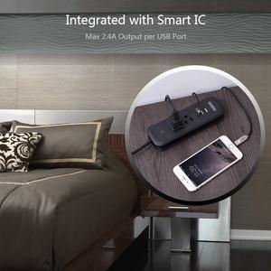 Image 5 - NTONPOWER قطاع الطاقة السفر مع USB الولايات المتحدة الكهربائية مقبس مسطح سطح المكتب الصغير شحن مع 15 بوصة تمديد الحبل لسفينة كروز