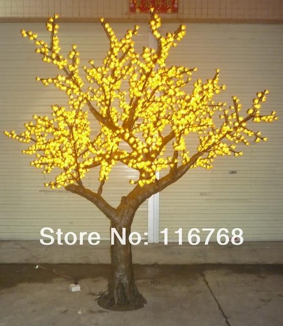 25 m yellow led kunstmatige verlichte bloesem boom outdoor tuin verlichting verlichte decoraties