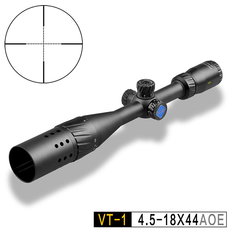 Discovery VT-1 4.5-18X44AOE Hunting Rifle Scopes Optical Sights Red & Green Illuminated Mil Dot Reticle With SunshadeDiscovery VT-1 4.5-18X44AOE Hunting Rifle Scopes Optical Sights Red & Green Illuminated Mil Dot Reticle With Sunshade