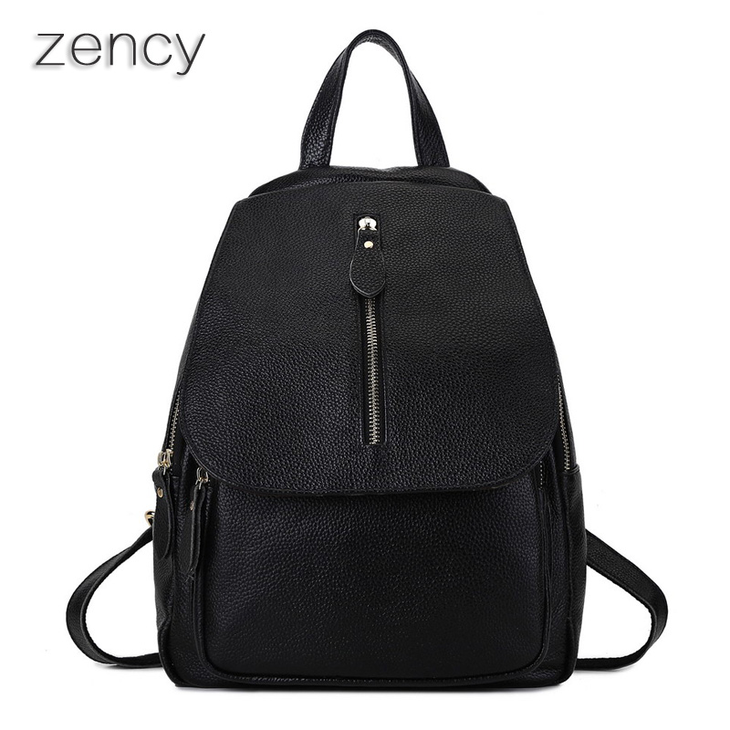 Top Quality Genuine Leather Women s Backpack Casual Bags Ladies Backpacks Real Leather Girl s School