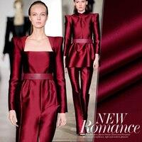 135 см шириной 40 мм темно красный насыщенный Цвет тяжелые шелковые ткани для Лето длинные и короткие Свадебное, вечернее платье рубашка костю