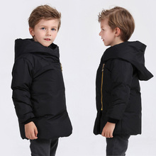 Christmas Clothes Winter Coat 2016 New Style Kids Boys Girls Warm Solid Down Jacket Inclined Zip Down Coat Girl Winter Outerwear