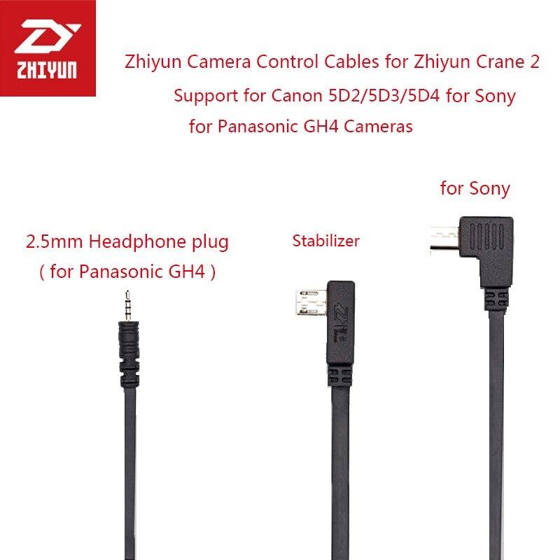 Zhiyun Camera Control Kabel Unterstützung Zhiyun 2 Kran M Gimbal für Panasonic GH4 für Canon 5D4 5D2 5D3 für Sony Kamera