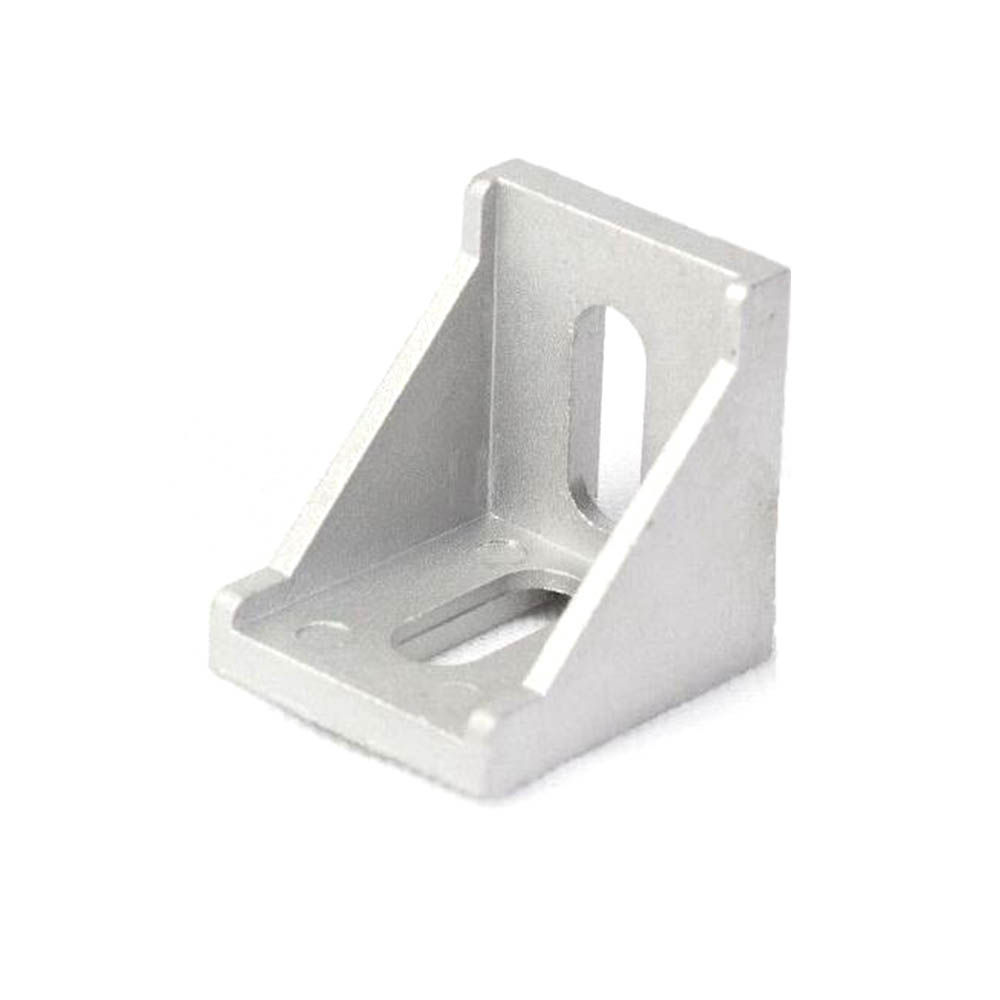 10pcs 3030 Corner Fitting Angle Aluminum 30 X 30 L Connector Bracket Fastener Match Use 3030 Industrial Aluminum Profile
