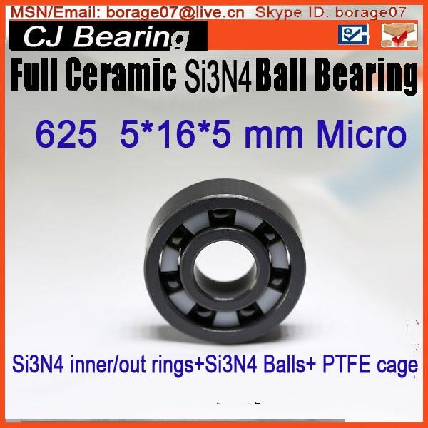 625 SI3N4 bearing Full SI3N4 Ceramics bearing 5*16*5MM круг алмазный по керамике 1a1r ceramics elite 200x1 6x7 0x25 4 diam 000547