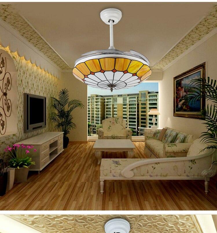tiffany fashion modern ceiling chandelier fan lamp 42inch