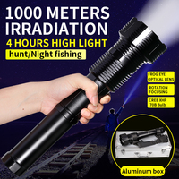 XHP70 High Lumen Brightest LED Flashlight 4800 Lumens 5 Modes Zoomable Hunting Flashlights With Multifunctional Battery Charger