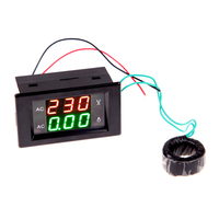 الرقمية فولت أمبير أمبير متر الفولتميتر مقياس ac 100-300 فولت/200a الجهد أمبير متر مع ac الحالي محول الأسود
