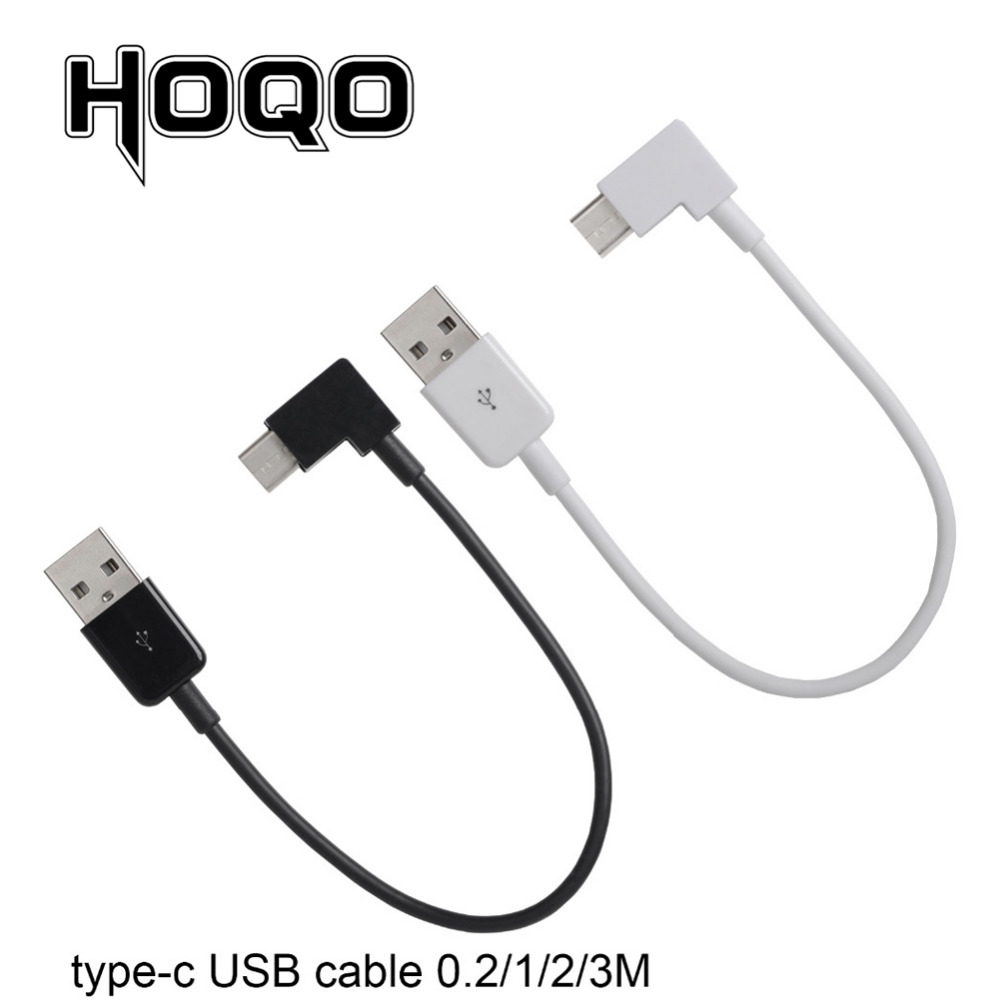 20cm Short 1m 90 Degree USB Type C Cable 2m 3m 3A USB-C Cable Type-C Fast Charging Cord For Nintendo Switch Samsung S8