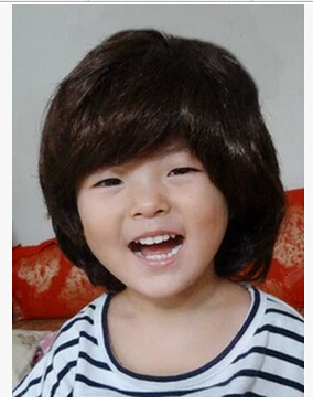 2015 NEW Model Wig Lovely Cute Little Boy Short Hair Pictures Show Children Childrens Clothing