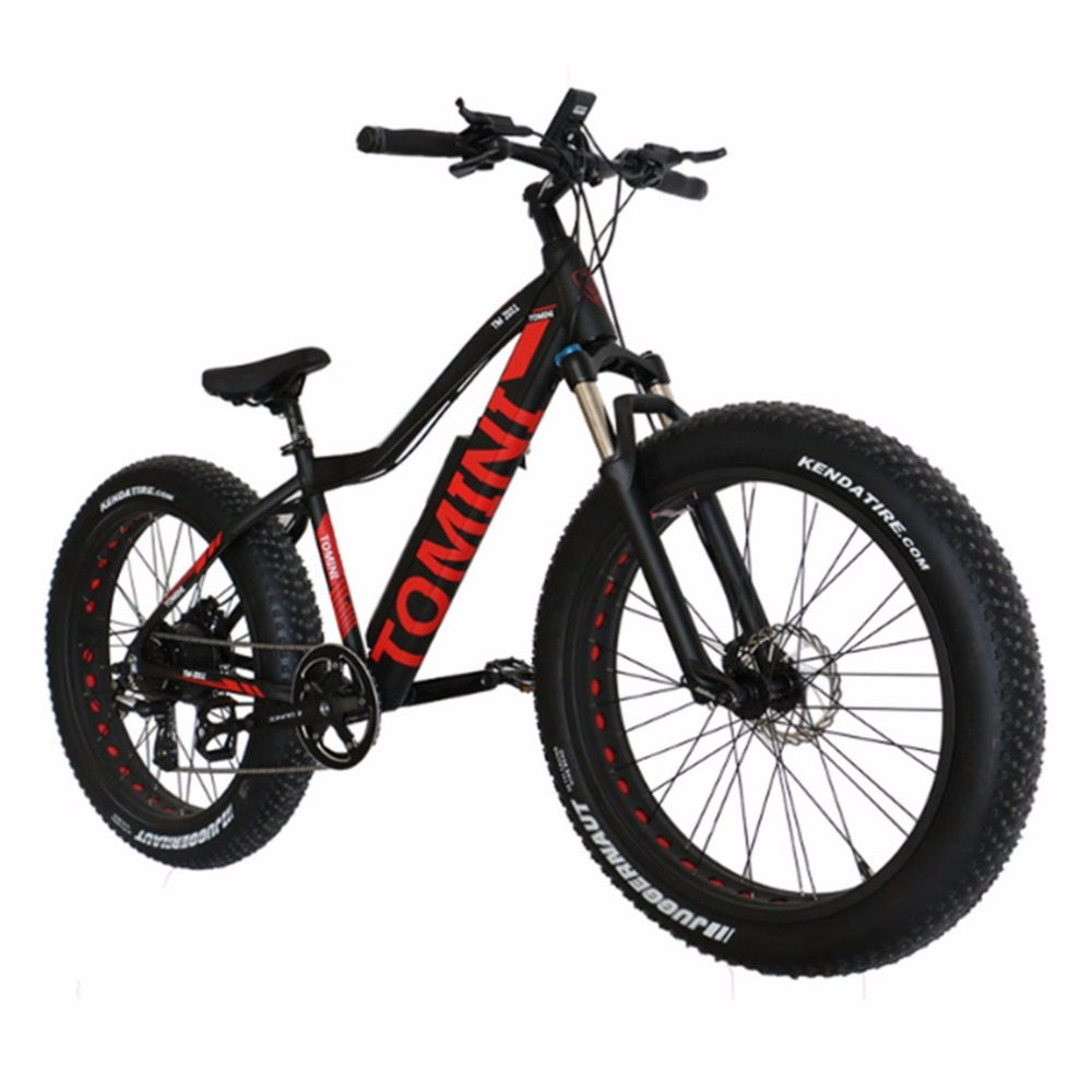Variable Speed Mountain Bike Li-ion Battery Electric Bike Aluminium Alloy Fat Bike Off-road Bike With Super Broad 4.0 Tyre