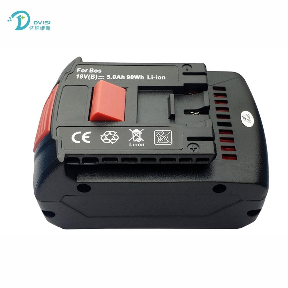 Replaceable High Capacity 18V 5.0Ah Li-ion Extended Drill Battery for Bosch BAT609 BAT609G BAT610G BAT618 BAT618G BAT619 BAT619G 4 pcs replacement for bosch rechargeable battery 18v 4 0 ah li ion battery for bosch 17618 bat609 bat618 with led light