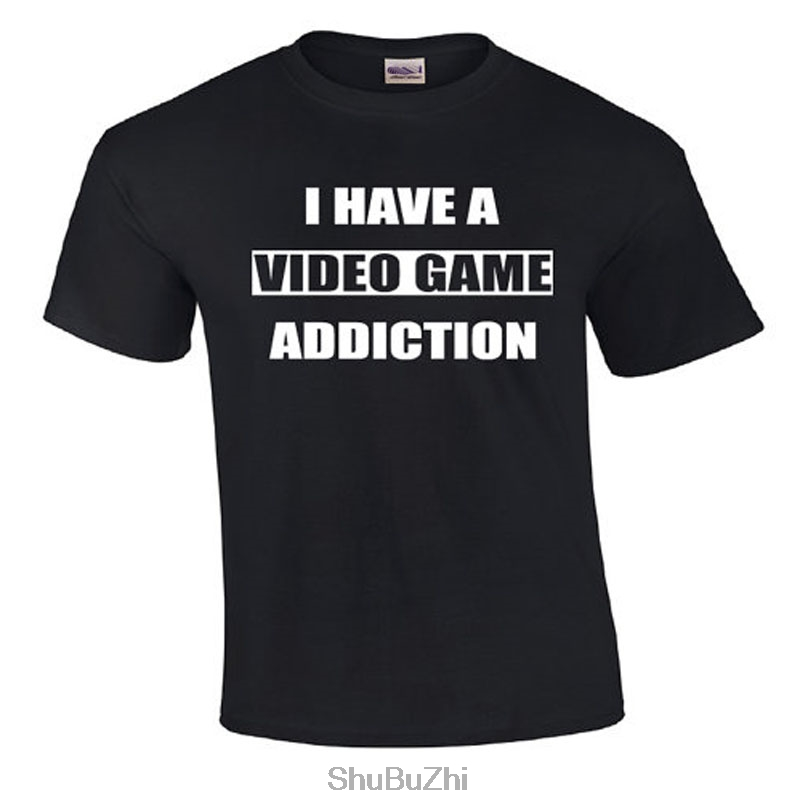drop shipping summer new fashion men o-neck t shirt I Have A Video Game Addiction  Video ...
