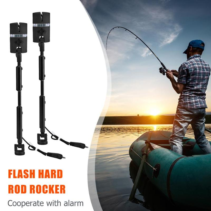 2pcs/Bag Carp Fishing Bite Alarms And LED Fishing Swinger Illuminated Carp Fishing Alarm Set 7 Color Indicator Fishing Tackle