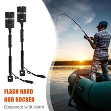 2 قطعة/الحقيبة الكارب الصيد لدغة الإنذارات و LED الصيد مقلاع مضيئة الكارب الصيد إنذار مجموعة 7 مؤشر اللون الصيد معالجة