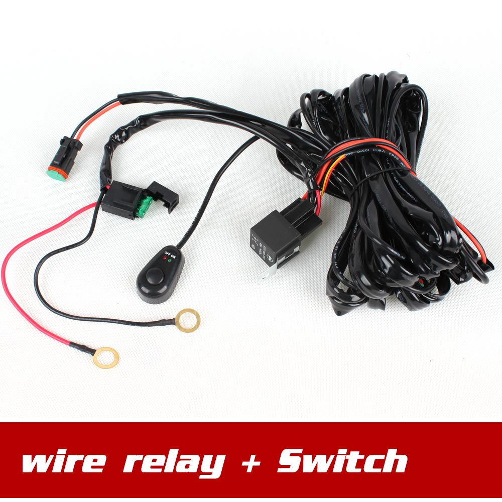 aliexpress com buy wire control relay switch wire harness for aliexpress com buy wire control relay switch wire harness for spotlights hid drive work light led work light bar 35w 55w 75w shipping from reliable