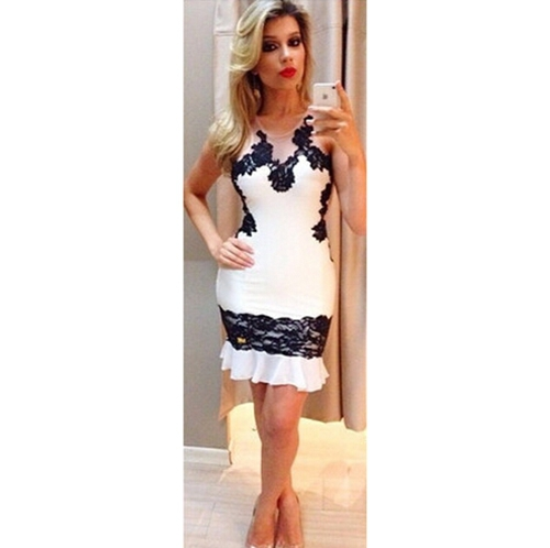 2015 Womens Summer Sleeveless Bodycon Dresses Sexy Club Party Wedding Dating Dinner Outfits Plus Size S