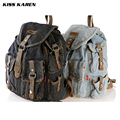 KISS KAREN Cowboy Fashion Denim Casual Daypacks Women Backpacks Retro Style Backpack Bags Jeans Bags Ladies Travel backpack Bags