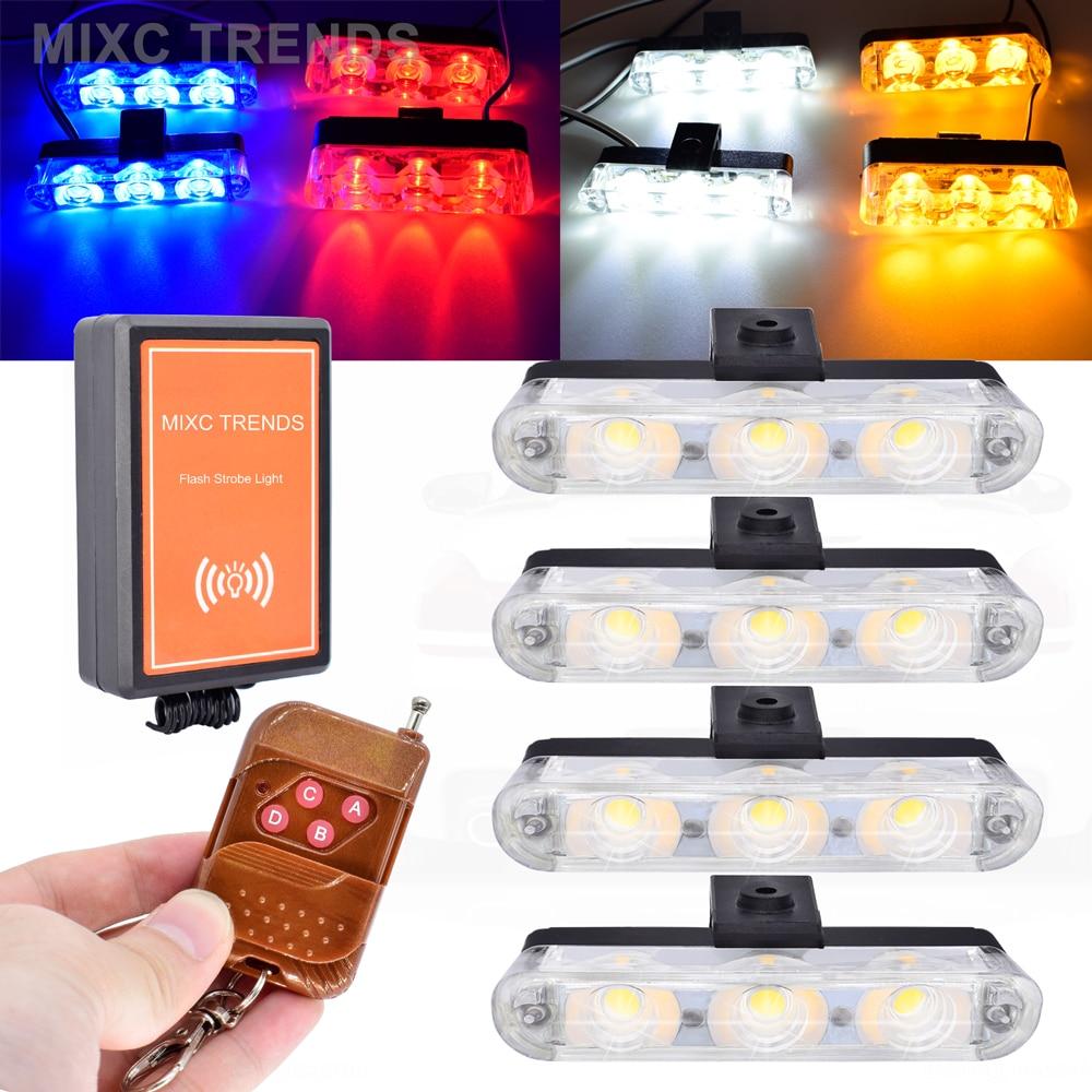 6 X 9 LED AMBER CAR STROBE FLASH LIGHT EMERGENCY 3 FLASHING MODES 12V