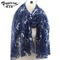 2015 Новая Мода зимы женщин и осень шарфы Якорь печати вуаль шарф bufandas марка большой размер мягкая женщина бренд шарф шаль