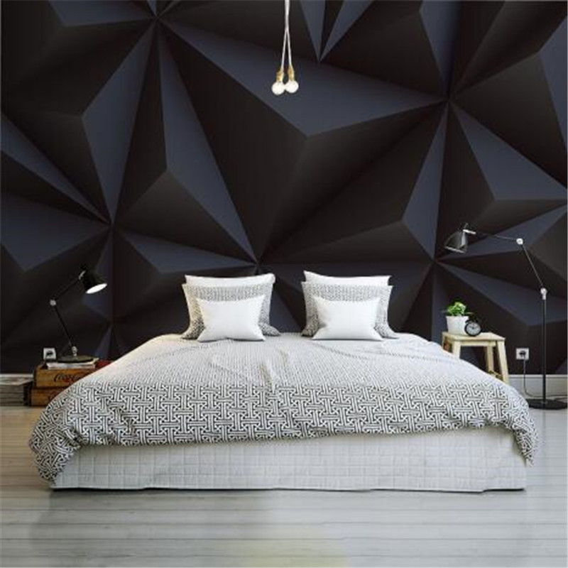 Black Photo Wallpaper for Walls 3D Stereoscopic Silk Cloth Murals Modern Abstract 4D Wall Papes for Living Room Decor PaintingBlack Photo Wallpaper for Walls 3D Stereoscopic Silk Cloth Murals Modern Abstract 4D Wall Papes for Living Room Decor Painting