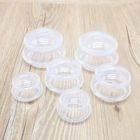New 6PCS Transparent Food Grade Silicone Massage Cup Full Body Massager Spa Health Care Muscle Relaxation