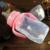 Mamadeira com bico 150 ml copo bebê copo com canudinho rosa azul alças garrafa mamadeira mamadeiras copo com palha recém-nascidos