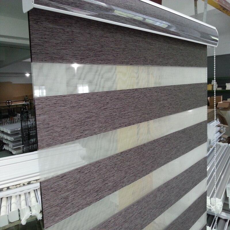 Custom Size Shade 100 Polyester Translucent Roller Zebra