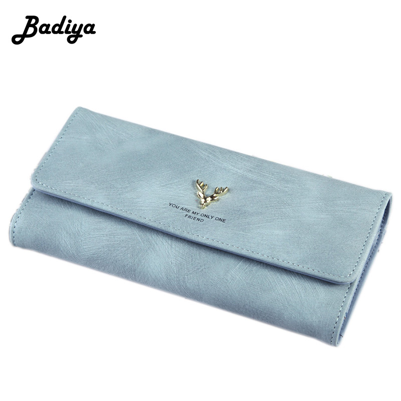 Luxury Fashion Women's Wallets Leather Nubuck Long Purse Ladies Trifold Multi Credit Card Holders Zipper Phone Pouch Money Bag