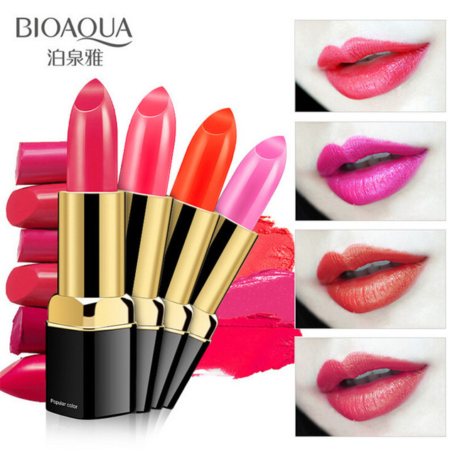 2018 BIOAQUA 10 colors Charm of kissing lipstick moisturizing batom long lasting lip gloss makeup batons hannaier 269 h12 pen style moisturizing lipstick lip gloss deep orange page 4