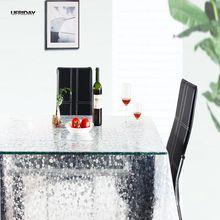 UFRIDAY Transparent Pebble EVA Tischdecke Kaffee Tee Kristall Tischdecke Wasserdichten wachstuch Tischdecken Rechteckigen Weichglas