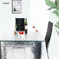 UFRIDAY Transparent Pebble EVA Tablecloth Coffee Tea Crystal Table Cloth Waterproof Oil Tablecloths Rectangular Thin Soft Glass