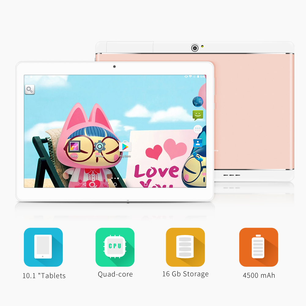 Yuntab K17 Tablet PC Quad-Core Android 5.1 touch screen1280*800 unlocked smartphone Built in 2 Sim Card Slots(rose gold alloy)